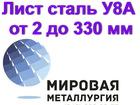Скачать бесплатно фото Строительные материалы Продам лист У8А, сталь У8, полоса У8А 82987468 в Астрахани