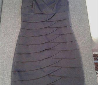 Изображение в Одежда и обувь, аксессуары Женская одежда Продам черное атласное платье, приталенное, в Братске 2800