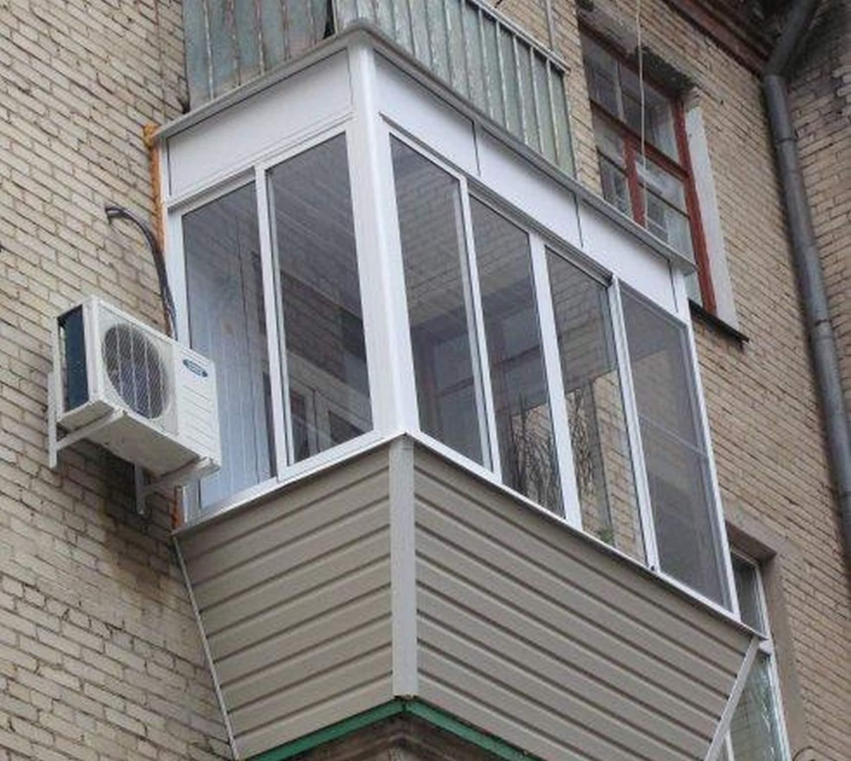 Остекление балконов и лоджий алюминиевым профилем хрущевка..