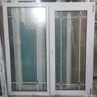 Пластиковое окно с фальш-переплетом белым