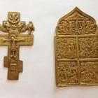 Продам крест и иконку (бронза )