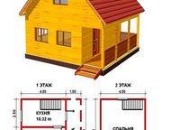 Построим дом 6м х 6м, 2 этажа, 54м2 В указанную стоимость входит:   •Фундамент: