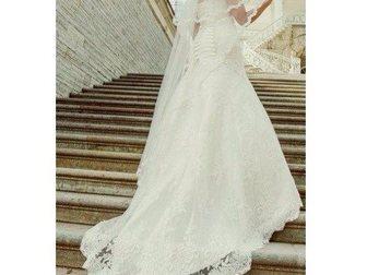 Просмотреть изображение  продам элегантное, красивое платье со шлейфом и аксессуарами к нему 32927015 в Гатчине