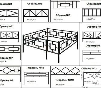 Фото в Строительные материалы Разное Оградки  Продам ритуальные ограды из профильной в Гаврилов-Яме 840