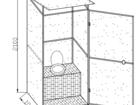 Фото в Строительство и ремонт Строительные материалы Кабина дачного туалета. Каркас туалета выполнен в Гулькевичи 8400