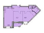 Продается 2-комн. кв-ра площадью 65,1 кв.м, 11 этаж 17-этажн