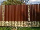 Скачать бесплатно фото Строительные материалы Забор из профнастила под ключ 36259720 в Щелково