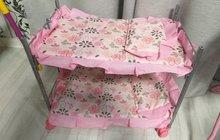 Игрушечная кроватка 2хярусная