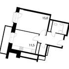 Продается 1-комн. кв-ра площадью 41,1 кв.м на 11 этаже 13 эт