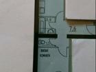 Квартира общей плoщадью 37,7 кв.м (куxня 9.5 кв.м, комнaта,