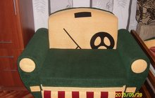 Детский мини-диван,машинка