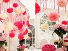 Уникальное фото  Стильное оформление свадьбы бумажными цветами, 33309352 в Кемерово