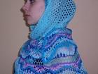 Новое изображение Женская одежда Роскошная шаль ручной работы из хлопка 34932352 в Кемерово