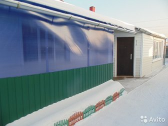 Продается дом в с, Елыкаево, 100 м2, 4 комнаты кухня, санузел в доме (раздельно), холодная и горячая вода, котельная на твердом топливе, стеклопакеты,  Дом обшит в Кемерово