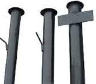 Фото в   Металлические столбы новые круглые, профильные. в Кохме 200