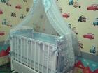 Детская кроватка полностью укомплектована