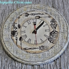 Часы настенные из массива сосны Время обедать