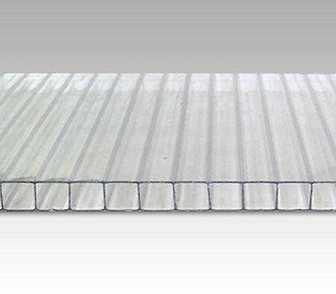 Изображение в Строительство и ремонт Строительные материалы Сотовый поликарбонат  Толщина 4 мм. Прозрачный, в Костроме 0
