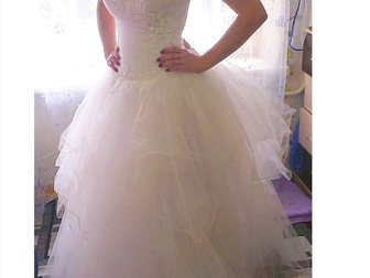 Смотреть foto Свадебные платья Свадебное платье в хорошем состоянии 33494353 в Коврове