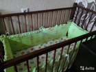 Кроватка детская   матрас и бортики