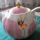 Дулёвский фарфор: чайник, сливочник и сахарница, СССР
