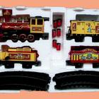 Поезд цирковой музыкальный игрушечный сборный