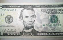 Продам банкноту 5 долларов США, состояние UNC пресс