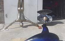 Скульптурная композиция из металла Ныряльщик за жемчугом