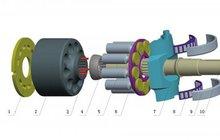 Насос Rexroth A4VSO40 для бетононасосов