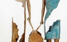 Скульптурная композиция из металла Путешественники