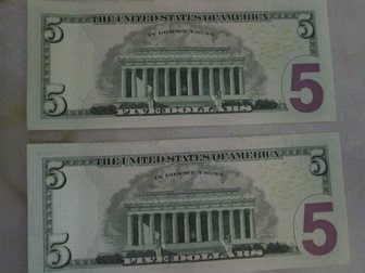 Уникальное изображение  Продам банкноту 5 долларов США, состояние UNC пресс 34270058 в Краснодаре
