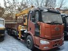 Уникальное изображение Фронтальный погрузчик Бортовой грузовик FAW 6x4 с КМУ 10т 34648119 в Красноярске