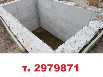 Уникальное фото Другие строительные услуги Монолитные погреба под ключ, Смотровая яма 33002591 в Красноярске