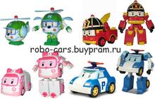 Робокары Поли, Рой, Эмбер и Хэлли - 4 игрушки по супер цене