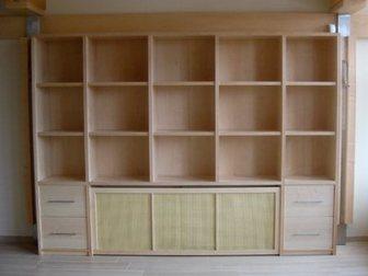 Шкаф-купе. книжный шкаф. столешница из массива. (апрель 2009.