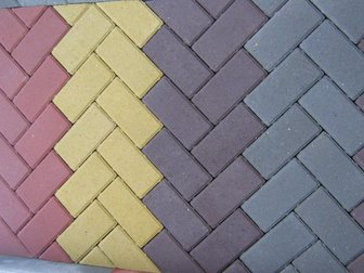 Уникальное фотографию Строительные материалы Тротуарная плитка Брусчатка(кирпичик)вибропрессованная 34022911 в Кургане