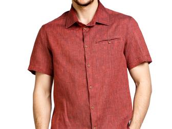 Уникальное foto  Мужские льняные рубашки оптом 39334677 в Москве