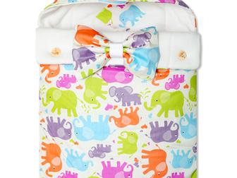 Скачать изображение  Конверт на выписку для новорожденного Futurmama Color Elefant 39465755 в Архангельске