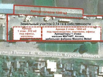 Скачать бесплатно фото Коммерческая недвижимость Продам помещения 5400 кв, м, Земля 0,74 га в собственности 37749129 в Курске