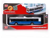 Троллейбус Технопарк цвет:сине-белый, сделан из металла и пластика, тип:городско