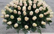 Розы - Шикарные корзины из роз