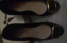 Туфли черные летние -осень новые замш