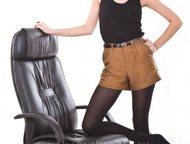 Магнитогорск: Прекрасное, удобное, функциональное кресло Кресло Пилот-7-Люкс-повышенной комфортности, имеет бесшумный,   долговечный механизм качания на шариковых