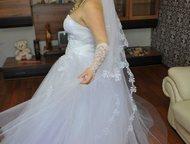 Продам свадебное платье не дорого Продам белое классическое платье. В хорошем состоянии после химчистки. Пышная юбка пачка, сетка, отделка из бисера в, Магнитогорск - Свадебные платья