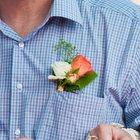 Свадебные бутоньерки из живых цветов