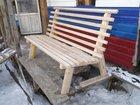 Изображение в Мебель и интерьер Мебель для дачи и сада Продам изготовлю скамейки из дерева на металлокаркасе в Миассе 1500