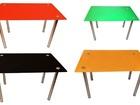 Изображение в Мебель и интерьер Мебель для прихожей Столы обеденные деревянные на хромированных в Москве 3500
