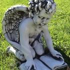 Скульптура из бетона Амур с книгой выс, 40 см, вес 30 кг
