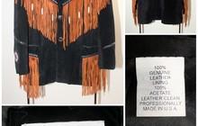 Ковбойская винтажная замшевая куртка, Новая, USA