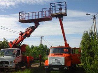 Уникальное фото Разные услуги Аренда автовышки 12-28 м большая люлька-балкон 33139777 в Москве